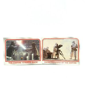 Star Wars The Empire Strikes Back and Heritage Topps P5 and 51 Trading Cards