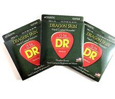 DR Guitar Strings Acoustic Dragon Skin 3-Pack 13-56