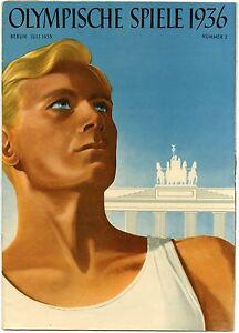 VINTAGE MAGAZINE OLYMPIQUE GAME 1936 BERLIN NUMBER 02 circa 1930