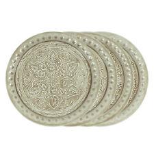 Teller Metall Ø 35,5 cm Beige / Muster, Dekoration, Schale, Kerzenteller