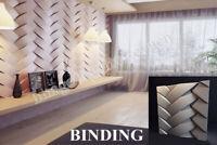 3D Decorative wall panels ABS Plastic molds Plaster Gypsum alabaster BINDING