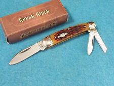 ROUGH RIDER RR375 WHITTLER Amber jigged bone pocket knife 3 1/4