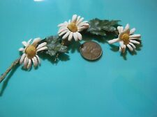 Antique stem w daisy flowers salvage piece old Dolls Floral Hats Millinery