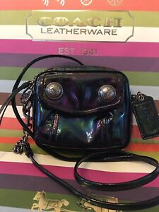 *COACH* PoPpY Hologram Oil Slick Boxy Bag Crossbody Purse 16925 ~ RARE!!!
