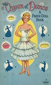 VINTGE 1960s QUEEN SONG DANCE PAPER DOLL LASER REPRODUCTIN~ORG SIZE UNCUT NO.1 S