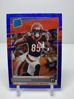 2020 Donruss Optic Football Tee Higgins Rated Rookie Blue scope Bengals