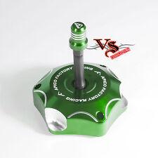 Apico Anodizado Tapa de combustible Inc Tubo de ventilación Kawasaki KXF250 04-05 Verde