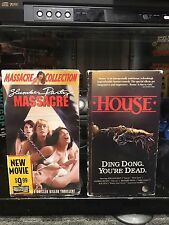 VHS HORROR LOT SLUMBER PARTY MASSACRE AND HOUSE