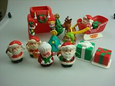 Fisher Price Little People CHRISTMAS HOLIDAY ITEMS, GIFTS, FIREPLACE, TREE, ELF+