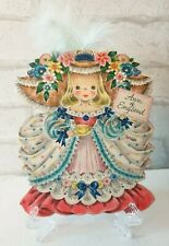 More details for vintage 1940s unused ann of england hallmark dolls greeting card no: 24 (eb0079)