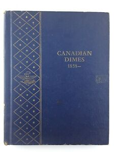 Canadian Dimes 1858 to Date Whitman Blue No. 9504 Empty Coin Book T582