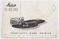 Genuine Leica Instruction Manual for If, IIf, IIIf Cameras -  1954 FREE SHIPPING