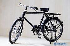 For 1/6 Figure Scene Accessories Black B Bike/Bicycle Model Wheel Movable Mini