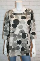 Queen Of Everything Brand Ink Spot Dysie Short Sleeve Top Size 1 BNWT #SC21