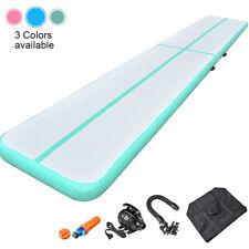 16FT Inflatable Gymnastics Air Track Training Tumbling Mat +Pump Premium Quality