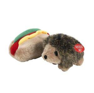 Booda Soft Bite Plush Hedgehog & Hotdog Small
