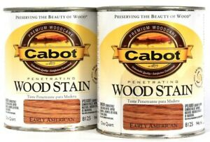 2 Cans Cabot 32 Oz Penetrating Wood Stain 8125 Early American Fade Resistant