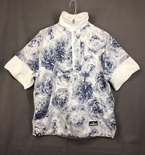 adidas Stella McCartney Women's Run Pull On Jacket Half Zip White/Blue Size S
