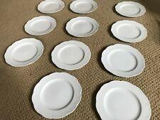 Rosenthal Classic Rose Monbijou Salad Plates ~ 11 ~ Dessert White