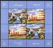 Bosnia / Mostar 2012 Europa CEPT Visit Architecture sheet of 4 MNH**