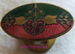 IN18144 - INSIGNE Service Militaire des Chemins de Fer, ovale vert et rouge