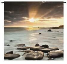 31x31 NORDIC SUNSET Ocean Tapestry Wall Hanging