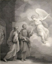 ANGEL FREEING THE APOSTLES 1795 William Skelton - Thomas Kirk ANTIQUE ETCHING