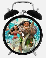 "Disney Moana Alarm Desk Clock 3.75"" Home Office Decor E338 Nice For Gift"