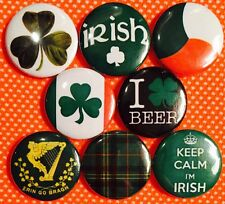 "Irish x 8 NEW 1"" pins button badge ireland pride erin go bragh Conor Mcgregor"