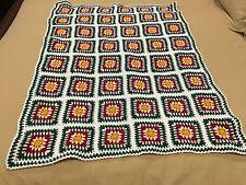 Handmade Afghan / Throw Blanket - Designer Collection - Green, Crimson &  Gold