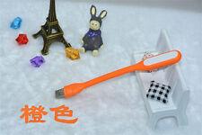 Flexible Mini USB LED Light Lamp for Keyboard Reading Laptop Notebook Orange POU