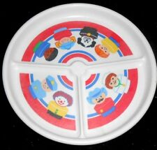 Fisher Price Little People Decorative Divided Plate - 1990