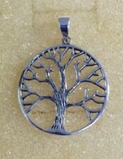 STERLING SILVER DETAILED TREE OF LIFE PENDANT