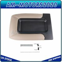 Center Console For Chevy Silverado Tahoe GMC Sierra Armrest Cover Lid Beige New