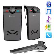 2017 Mini Wireless Bluetooth Car Kit Speakerphone Speaker Multipoint Visor Clip