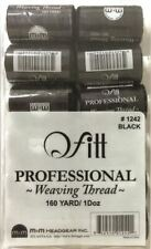 (Pack of 12) Black Weaving Thread 160 Yard for Hair Extension