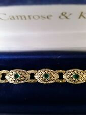 Jacqueline Kennedy Vintage Emerald Crystal Bracelet