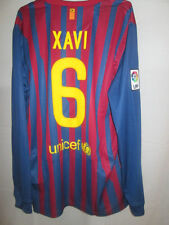 Barcelona 2011-2012 Xavi 6 Home Football Shirt Manga Larga BNWT Tamaño Grande / Sh