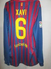 Barcelona 2011-2012 Xavi 6 Home Football Shirt Manga Larga BNWT Tamaño Grande / Sh