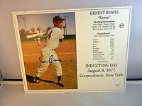 ERNIE BANKS Autograph Chicago Cubs 8x10 Photo Signed Black Gold COA