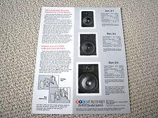 BIC Muro series speaker brochure catalogue