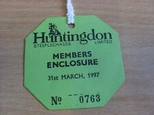31/03/1997 Hutingdon Races - Horse Racing Badge (good condition with no apparent