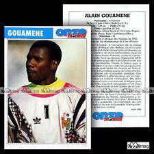 GOUAMENE ALAIN (LORIENT, RAJA CASABLANCA) - Fiche Football 1992