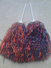 PAIR of MULTI-COLOR ROOTER Pom Poms *CHICAGO BEARS COLORS*