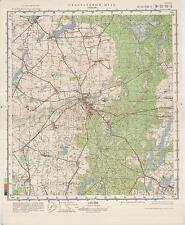 Russian Soviet Military Topographic Maps - TUCHOLA (Poland), 1:50 000,  ed.1981