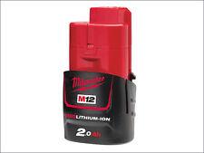 Milwaukee M12 B2 REDLITHIUM-ION Battery 12 Volt 2.0Ah Li-Ion MILM12B2 New