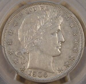1906-O Barber Half Dollar 50c PCGS Certified XF45 Luster Remains,Would sit Nice