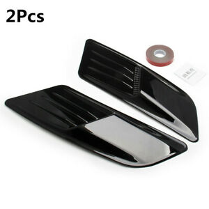 Universal Black Air Flow Intake Trim Cover For Racing Car Hood Scoop Vent Roof