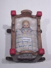 +# A014557 Goebel Archivmuster, FX 254, Kinderwiege m. Kind und Spieluhr - werk