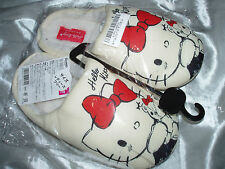 HELLO KITTY SLIPPERS - SANRIO - AUTHENTIC JAPAN - PLUSH NWT